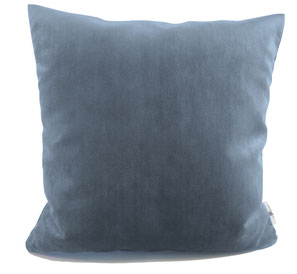 Samtkissen 40x40 blaugrau