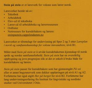 Rezension Stein på stein Lehrbuch norwegisch