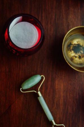 Ridoki en jade et huile de cameline pour le soin du visage Kobido