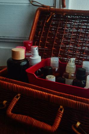 huiles de massage végétales et huiles essentielles