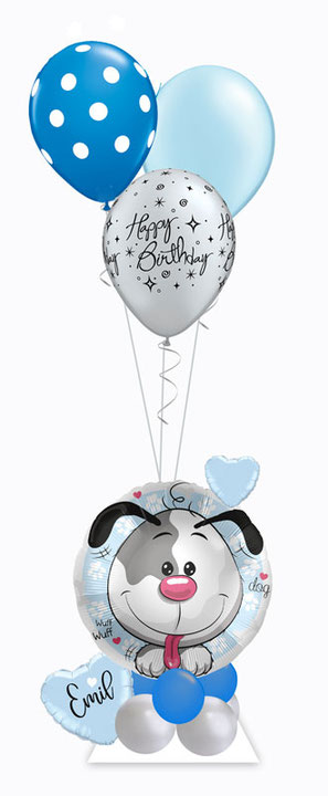 Ballon Luftballon Folienballon Ballongruß Katze Kätzchen Hund Herz Geburtstag Kindergeburtstag Junge Mädchen Ballongeschenk Ballonpost Box Versand verschicken Ballongeschenk Geschenk Deko Dekoration Mitbringsel Name personalisiert Personalisierung Idee