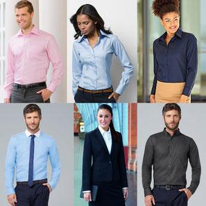 Hemden, Blusen, Krawatten, Anzüge und mehr
