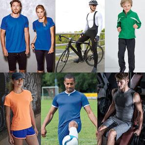 Fitnesskleidung, Running-Shirts, Bikerklamotten und mehr