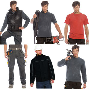 Arbeitskleidung verschiedener Hersteller