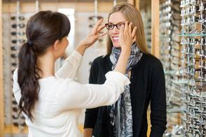 Brilleneinkauf beim Optiker