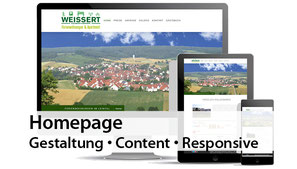 Homepage - Gestaltung, Content, Responsive