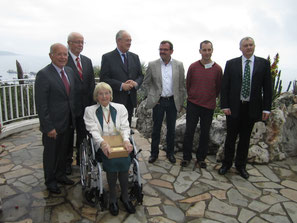 2013, Monaco: Dr. Heidi Hartmann, right Petr Pavelka and Jean-Marie Solichon