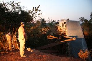 Brückeneinbruch im Pantanal, 2007