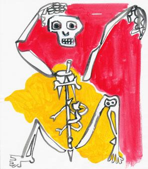 Un squelette de pièce