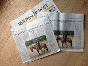 Rheinische Post  berichtet über Horse & Dog Trail Vorführung