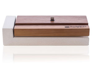 iPhone dockingstation apple, lightning dock in Holz und Beton