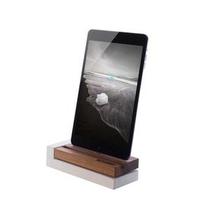 dockingstation für apple iphone in Holz (Nussbaum) und Beton