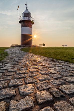 Kleiner Preuße Leuchtturm in Wremen bei Bremerhaven