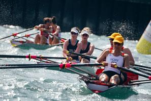 Coastal Rowing | WRCC Regatta & Gerangel um die Bojen in den Wellen (Quelle: #WRCC2019)