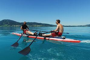 Mit ROWonAIR® flexibel in der Freizeit für die Gesundheit rudern & zum Spaß auch mal gemeinsam trainieren
