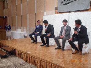 トークショー:江村選手・三家選手・田村選手・香月選手