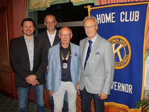 Neuer Vorstand: Dr. Joachim Beutler, Christoph Beecken und Marc Höper mit Governor Hermann Büsing