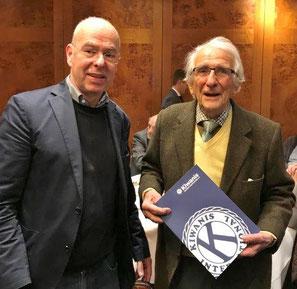 Ehrung für 40 jährige Club-Mitgliedschaft für unseren Senior Hans Kroker