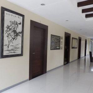 ドゥマゲッティ(ドゥマゲテ)の閑静な地域の充実した施設。個室での英語レッスン。