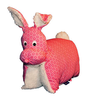 Tierkissen Hase pink-Teddy