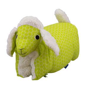 Tierkissen Schaf grün-Teddy