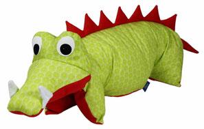 Tierkissen Krokodil Drache grün