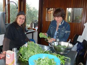 Maria in ihrem Reich, der Küche