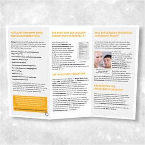 """Flyer """"Sichere Amalgam-Entfernung"""" zur Information Ihrer Patienten"""