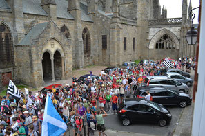 Arrivée Tro Breiz Dol-de-Bretagne