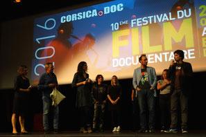 Gaspard Hirschi & Emmanuel Lautréamont, prix Corsica.Doc/Via Stella pour Bienvenue la chance