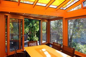 Wintergarten Holz Alu - wohnlich warm - sonnendurchflutet