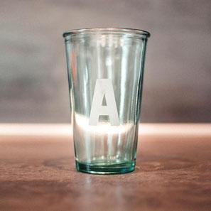 MONDEIS Trinkglas A Recyclingglas