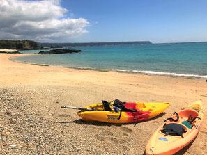 東村には自然のビーチが残っています。