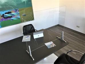Spuckschutz für Schreibtisch