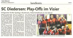 SC Diedersen: Play-Offs im Visier