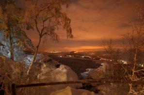 Winterimpression vom Papststein Richtung Dresden