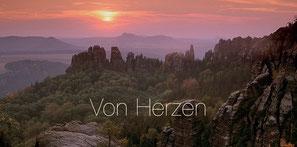 """Karte """"Von Herzen"""""""
