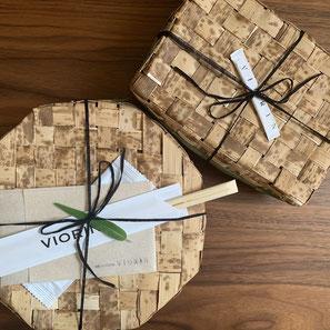 かわいい竹のお弁当箱は持ち帰り可