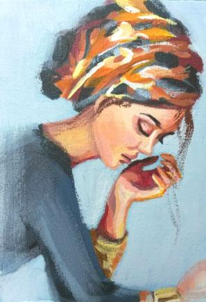 Portrait einer Frau von Elisabeth Gecius