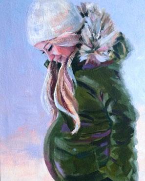 """Original Gemälde Frauenportrait """"Ariane"""" 60 x 80 cm"""