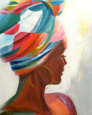 Portrait einer Afrikanerin von Elisabeth Gecius