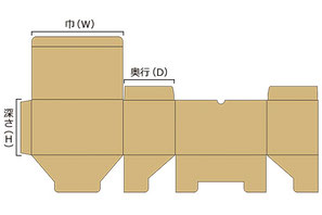 アメリカンロック底(底組み式)展開図