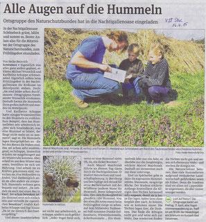 Volksstimme Schönebeck vom 16. April 2015 (Heike Heinrich)