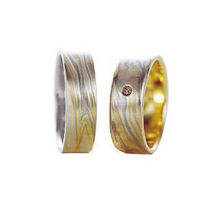 обручальные кольца мокуме гане