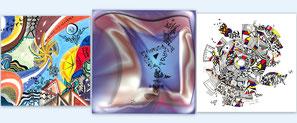 Karten  druck muster farben zeichnungen kunst
