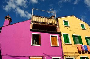 Bunte Häuser Italien Venedig Farbige Häuser