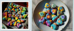 Herzen Guss Keramik Handmade