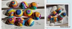 Halbkugel keramik rund farbig