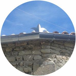 Gouttière en zinc posé par l'entreprise Tempérault Bruno sitiée à Rouillac en Charente