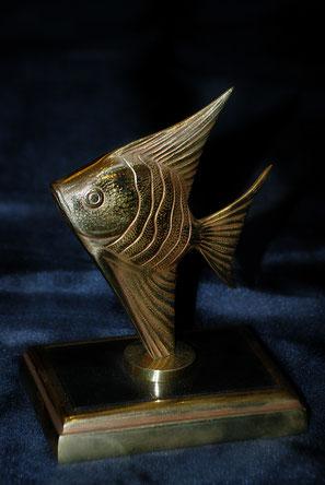 Presse-papier poisson en bronze d'art